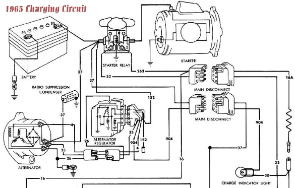 1965 Mustang Ammeter Wiring Diagram on 1999 vw beetle radio wiring harness