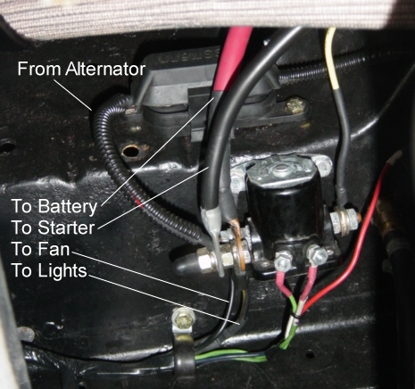 Solenoid how to bridge contacts on starter relay to make starter turn Tractor Starter Solenoid Wiring Diagram at panicattacktreatment.co