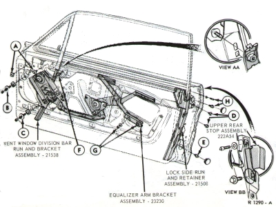 Doormechanisms on 1967 mustang window diagram