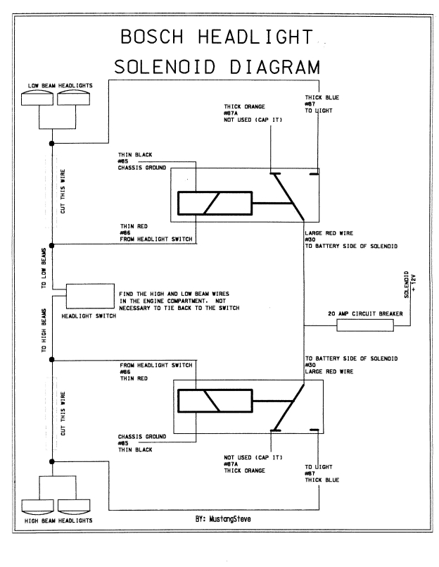 Schematic lelu's 66 mustang brighter headlights 1966 mustang headlight wiring diagram at n-0.co